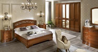 Camel Group Torriani Walnut Finish Italian Bedroom