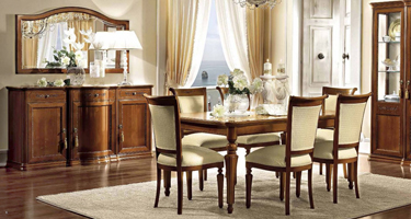 Camel Group Torriani Walnut Finish Italian Dining Room