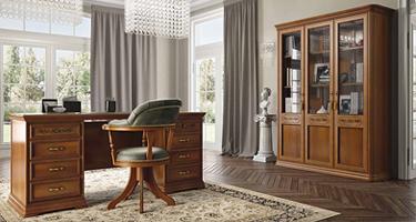 Camel Group Torriani Walnut Finish Italian Home Office