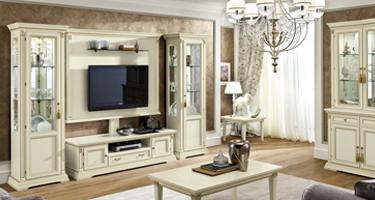 Camel Group Treviso White Ash Finish Italian Living Room