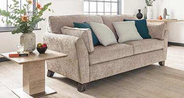Vida Living Cantrell Almond Fabric Sofa