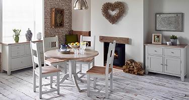 Besp Oak Chalked Oak and Light Grey Dining Room