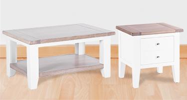 Besp Oak Chalked Oak and Pure White Living Room