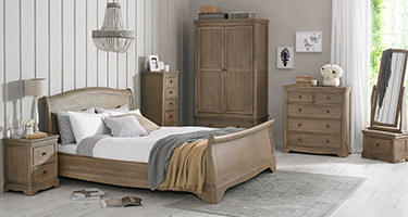 Heritance Colmare Grey Washed Oak Bedroom