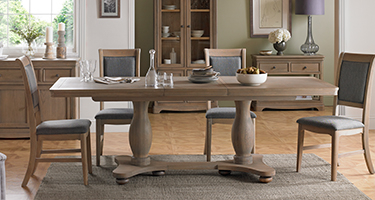 Heritance Colmare Grey Washed Oak Dining Room