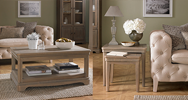 Heritance Colmare Grey Washed Oak Living Room