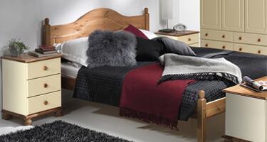 Copenhagen Cream and Pine Bedroom