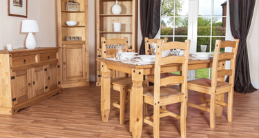 Core Products Corona Rustic Pine Dining Room