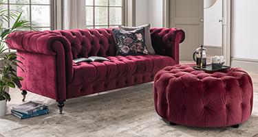 Vida Living Darby Berry Sofa