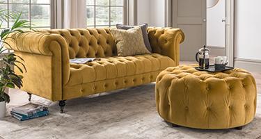 Vida Living Darby Mustard Sofa