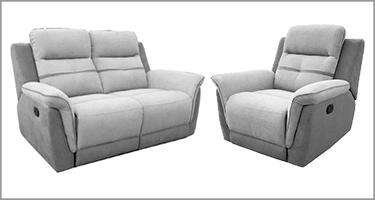 Vida Living Dawson Grey Recliner Sofa