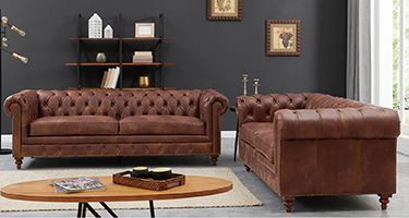 Derrys Furniture Chesterfield Brown LeatherSofas
