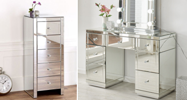 Derrys Furniture Hollywood Mirrored Glass Bedroom