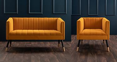 Derrys Furniture Jackson Mustard Sofas