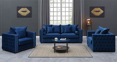 Derrys Furniture Moscow Royal Blue Sofas