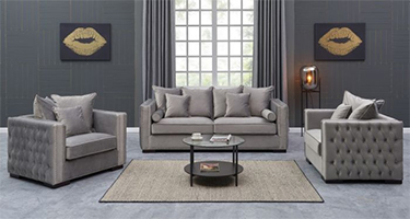 Derrys Furniture Moscow Silver Sofas