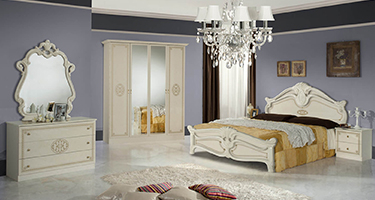 Dima Mobili Amalfi Beige Bedroom