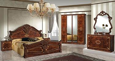 Dima Mobili Amalfi Walnut Bedroom