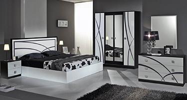 Dima Mobili Ambra Black and White Bedroom