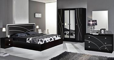 Dima Mobili Ambra Black Bedroom