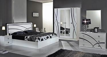 Dima Mobili Ambra White Bedroom