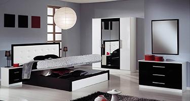 Dima Mobili Diamond Black and White Bedroom