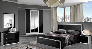 Dima Mobili Dolly Black and Silver Bedroom
