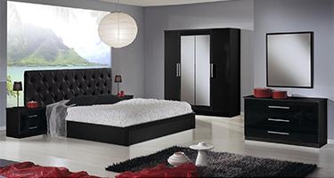 Dima Mobili Eva Black Bedroom