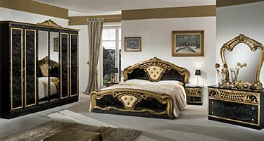 Dima Mobili Lara Black and Gold Bedroom
