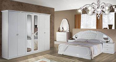 Dima Mobili Lory Lux White Bedroom
