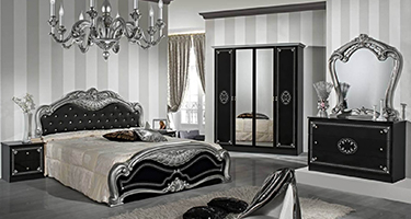 Dima Mobili Lucy Black and Silver Bedroom