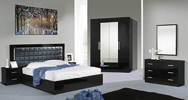 Dima Mobili Luna Black Bedroom
