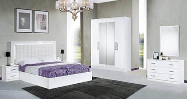 Dima Mobili Luna White Bedroom