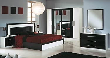 Dima Mobili Miami Black and White Bedroom