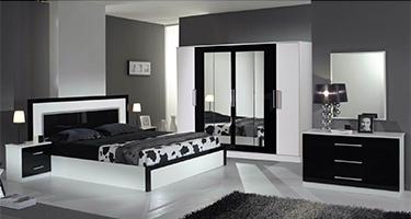 Dima Mobili Milano Black and White Bedroom