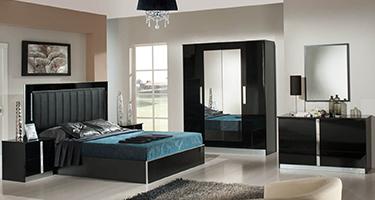 Dima Mobili Nada Black Bedroom
