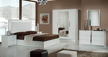 Dima Mobili Nour White Bedroom