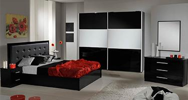 Dima Mobili Perla Black Bedroom
