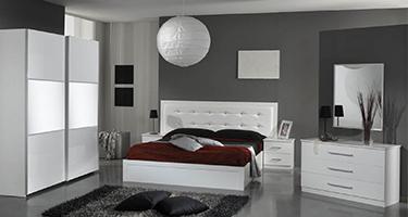 Dima Mobili Perla White Bedroom