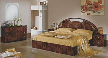 Dima Mobili Rosa Walnut Bedroom
