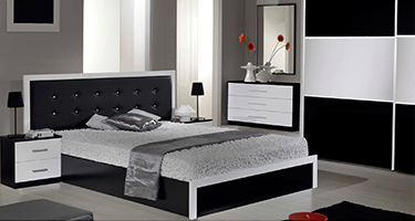 Dima Mobili Ruby Black and White Bedroom