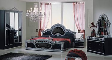 Dima Mobili Sara Black and Silver Bedroom
