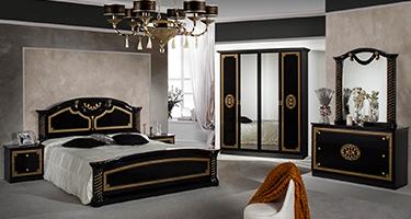 Dima Mobili Vera Black Bedroom