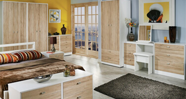 Dubai Bordeaux Oak and White
