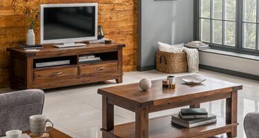 Vida Living Emerson Walnut Finish Living Room