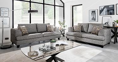 Vida Living Etta Grey Sofa