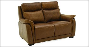 Francesco Tan Brown Recliner Sofa