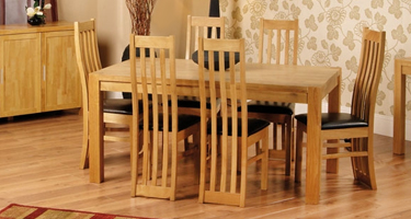Furniture Line Everest Natural Oak Dining Room