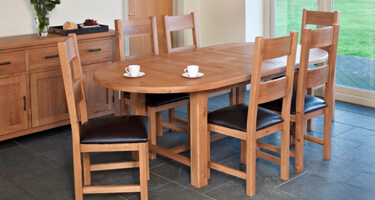 Furniture Line Hempstead Oak Dining Room