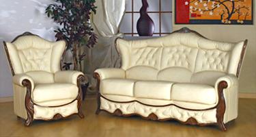 G & G Italia Cristal Leather Sofas